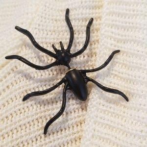 Jewelry - Halloween Black Spider Earrings